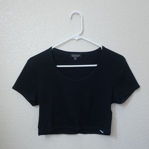 Topshop Black Crop Top